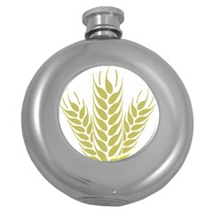 Tree Wheat Round Hip Flask (5 Oz) by Alisyart