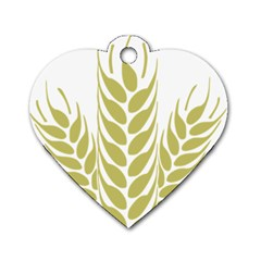 Tree Wheat Dog Tag Heart (two Sides)