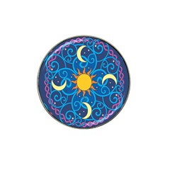 Sun Moon Star Space Purple Pink Blue Yellow Wave Hat Clip Ball Marker (4 Pack) by Alisyart