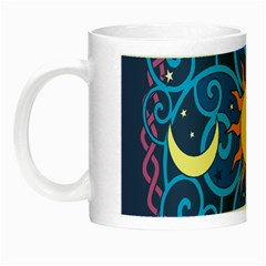 Sun Moon Star Space Purple Pink Blue Yellow Wave Night Luminous Mugs by Alisyart