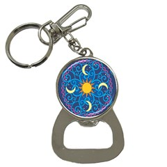 Sun Moon Star Space Purple Pink Blue Yellow Wave Button Necklaces