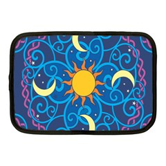 Sun Moon Star Space Purple Pink Blue Yellow Wave Netbook Case (medium)  by Alisyart