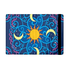 Sun Moon Star Space Purple Pink Blue Yellow Wave Apple Ipad Mini Flip Case by Alisyart