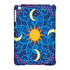 Sun Moon Star Space Purple Pink Blue Yellow Wave Apple Ipad Mini Hardshell Case (compatible With Smart Cover) by Alisyart