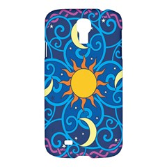 Sun Moon Star Space Purple Pink Blue Yellow Wave Samsung Galaxy S4 I9500/i9505 Hardshell Case by Alisyart