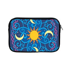 Sun Moon Star Space Purple Pink Blue Yellow Wave Apple Ipad Mini Zipper Cases by Alisyart