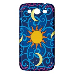 Sun Moon Star Space Purple Pink Blue Yellow Wave Samsung Galaxy Mega 5 8 I9152 Hardshell Case  by Alisyart