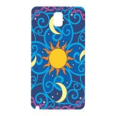 Sun Moon Star Space Purple Pink Blue Yellow Wave Samsung Galaxy Note 3 N9005 Hardshell Back Case by Alisyart