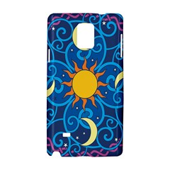 Sun Moon Star Space Purple Pink Blue Yellow Wave Samsung Galaxy Note 4 Hardshell Case by Alisyart