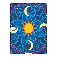 Sun Moon Star Space Purple Pink Blue Yellow Wave Samsung Galaxy Tab S (10 5 ) Hardshell Case