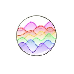 Twizzling Brain Waves Neon Wave Rainbow Color Pink Red Yellow Green Purple Blue Hat Clip Ball Marker (4 Pack) by Alisyart