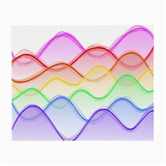 Twizzling Brain Waves Neon Wave Rainbow Color Pink Red Yellow Green Purple Blue Small Glasses Cloth