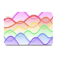 Twizzling Brain Waves Neon Wave Rainbow Color Pink Red Yellow Green Purple Blue Plate Mats