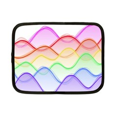 Twizzling Brain Waves Neon Wave Rainbow Color Pink Red Yellow Green Purple Blue Netbook Case (small)  by Alisyart