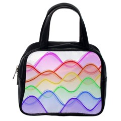 Twizzling Brain Waves Neon Wave Rainbow Color Pink Red Yellow Green Purple Blue Classic Handbags (one Side) by Alisyart