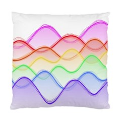 Twizzling Brain Waves Neon Wave Rainbow Color Pink Red Yellow Green Purple Blue Standard Cushion Case (one Side) by Alisyart