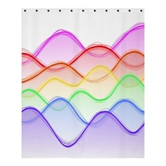 Twizzling Brain Waves Neon Wave Rainbow Color Pink Red Yellow Green Purple Blue Shower Curtain 60  X 72  (medium)