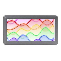 Twizzling Brain Waves Neon Wave Rainbow Color Pink Red Yellow Green Purple Blue Memory Card Reader (mini) by Alisyart