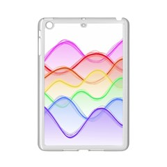 Twizzling Brain Waves Neon Wave Rainbow Color Pink Red Yellow Green Purple Blue Ipad Mini 2 Enamel Coated Cases