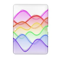 Twizzling Brain Waves Neon Wave Rainbow Color Pink Red Yellow Green Purple Blue Samsung Galaxy Tab 2 (10 1 ) P5100 Hardshell Case  by Alisyart