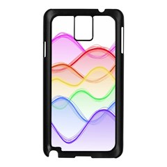 Twizzling Brain Waves Neon Wave Rainbow Color Pink Red Yellow Green Purple Blue Samsung Galaxy Note 3 N9005 Case (black) by Alisyart