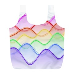 Twizzling Brain Waves Neon Wave Rainbow Color Pink Red Yellow Green Purple Blue Full Print Recycle Bags (l)  by Alisyart