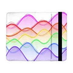 Twizzling Brain Waves Neon Wave Rainbow Color Pink Red Yellow Green Purple Blue Samsung Galaxy Tab Pro 8 4  Flip Case