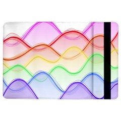 Twizzling Brain Waves Neon Wave Rainbow Color Pink Red Yellow Green Purple Blue Ipad Air 2 Flip by Alisyart