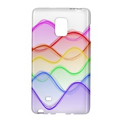 Twizzling Brain Waves Neon Wave Rainbow Color Pink Red Yellow Green Purple Blue Galaxy Note Edge by Alisyart