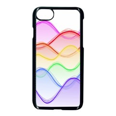 Twizzling Brain Waves Neon Wave Rainbow Color Pink Red Yellow Green Purple Blue Apple Iphone 7 Seamless Case (black)