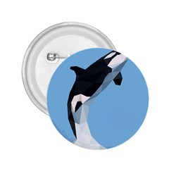 Whale Animals Sea Beach Blue Jump Illustrations 2 25  Buttons by Alisyart