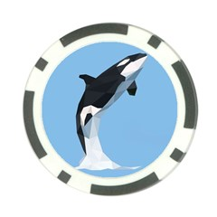 Whale Animals Sea Beach Blue Jump Illustrations Poker Chip Card Guard by Alisyart