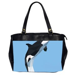 Whale Animals Sea Beach Blue Jump Illustrations Office Handbags (2 Sides)