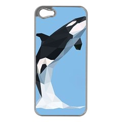 Whale Animals Sea Beach Blue Jump Illustrations Apple Iphone 5 Case (silver)