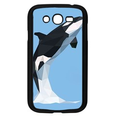 Whale Animals Sea Beach Blue Jump Illustrations Samsung Galaxy Grand Duos I9082 Case (black)