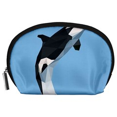 Whale Animals Sea Beach Blue Jump Illustrations Accessory Pouches (large)  by Alisyart