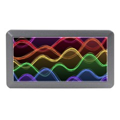 Twizzling Brain Waves Neon Wave Rainbow Color Pink Red Yellow Green Purple Blue Black Memory Card Reader (mini) by Alisyart