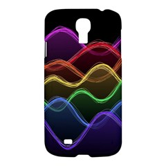 Twizzling Brain Waves Neon Wave Rainbow Color Pink Red Yellow Green Purple Blue Black Samsung Galaxy S4 I9500/i9505 Hardshell Case by Alisyart