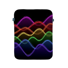 Twizzling Brain Waves Neon Wave Rainbow Color Pink Red Yellow Green Purple Blue Black Apple Ipad 2/3/4 Protective Soft Cases by Alisyart