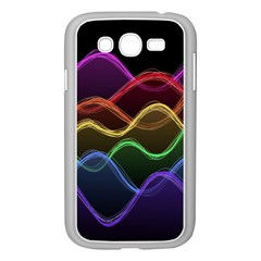 Twizzling Brain Waves Neon Wave Rainbow Color Pink Red Yellow Green Purple Blue Black Samsung Galaxy Grand Duos I9082 Case (white)