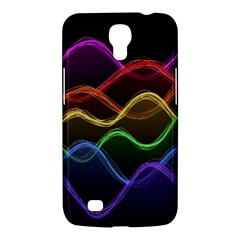 Twizzling Brain Waves Neon Wave Rainbow Color Pink Red Yellow Green Purple Blue Black Samsung Galaxy Mega 6 3  I9200 Hardshell Case by Alisyart