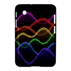 Twizzling Brain Waves Neon Wave Rainbow Color Pink Red Yellow Green Purple Blue Black Samsung Galaxy Tab 2 (7 ) P3100 Hardshell Case  by Alisyart