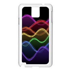 Twizzling Brain Waves Neon Wave Rainbow Color Pink Red Yellow Green Purple Blue Black Samsung Galaxy Note 3 N9005 Case (white)