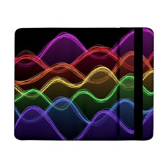 Twizzling Brain Waves Neon Wave Rainbow Color Pink Red Yellow Green Purple Blue Black Samsung Galaxy Tab Pro 8 4  Flip Case by Alisyart