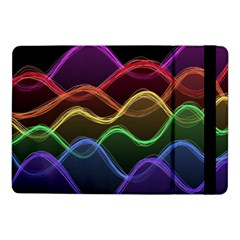 Twizzling Brain Waves Neon Wave Rainbow Color Pink Red Yellow Green Purple Blue Black Samsung Galaxy Tab Pro 10 1  Flip Case by Alisyart
