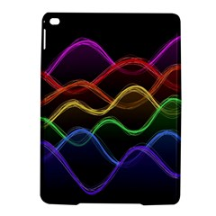 Twizzling Brain Waves Neon Wave Rainbow Color Pink Red Yellow Green Purple Blue Black Ipad Air 2 Hardshell Cases by Alisyart