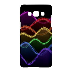 Twizzling Brain Waves Neon Wave Rainbow Color Pink Red Yellow Green Purple Blue Black Samsung Galaxy A5 Hardshell Case  by Alisyart