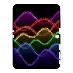 Twizzling Brain Waves Neon Wave Rainbow Color Pink Red Yellow Green Purple Blue Black Samsung Galaxy Tab 4 (10 1 ) Hardshell Case  by Alisyart