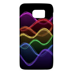 Twizzling Brain Waves Neon Wave Rainbow Color Pink Red Yellow Green Purple Blue Black Galaxy S6