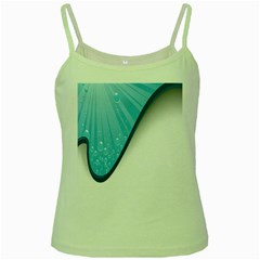 Water Bubble Waves Blue Wave Green Spaghetti Tank